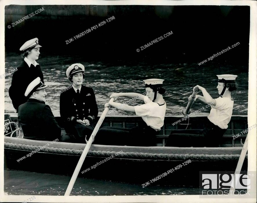 Stock Photo: 1952 - Lady Pamela Mountbatten visits members of Girls Nautical training corps.: The annual training course of the Girls' Nautical Training Corps - a voluntary.