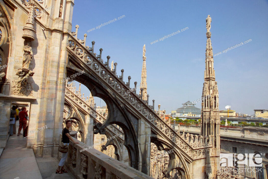 Stock Photo: Italy. Lombardy. Milan. Duomo (Cathedral).