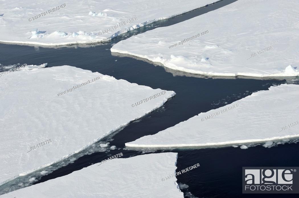 Imagen: Cracks in Pack ice Ice Floe  Weddell Sea, Antarctic Peninsula, Antarctica.
