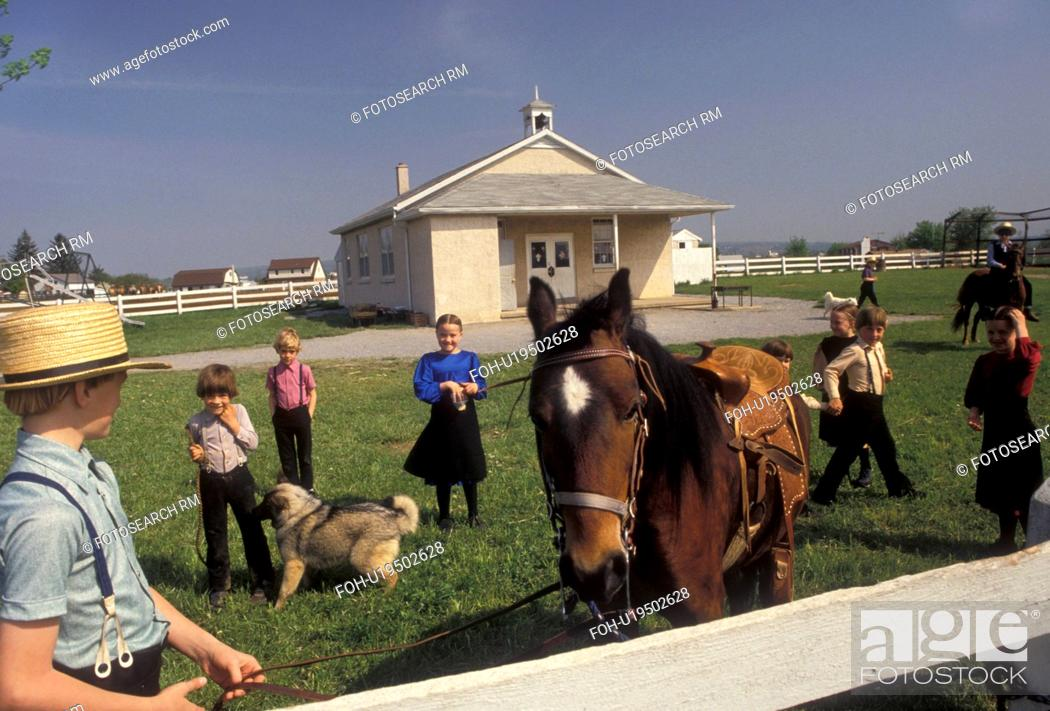 Amish, school, Amish Country, Lancaster County, Pennsylvania