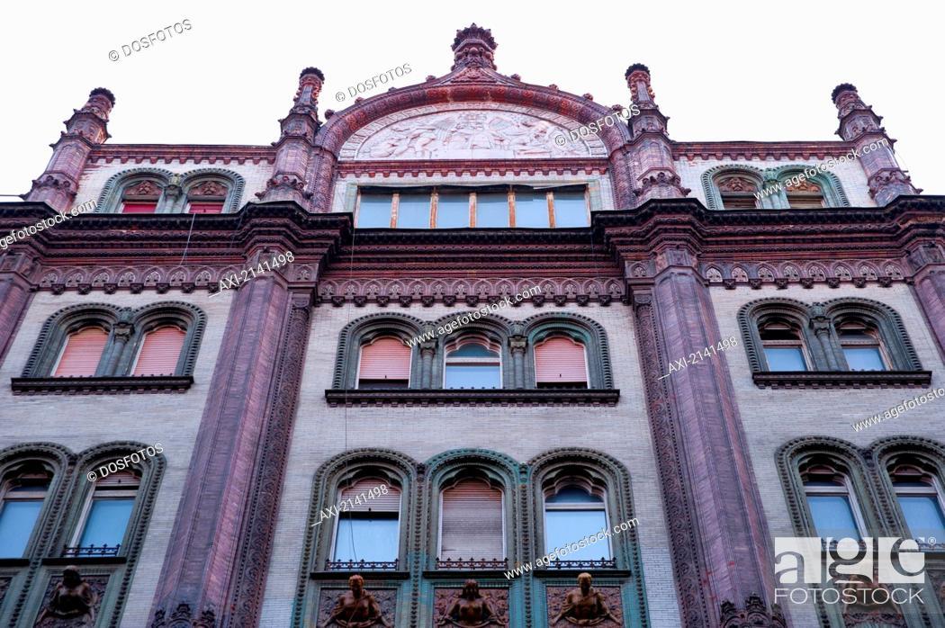 Stock Photo: Parisi Udvar Department Store, Example Of Art Nouveau Architecture, Budapest, Hungary.