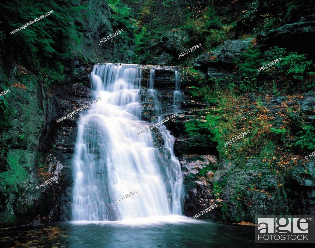 Stock Photo: Bushkill falls in Pennsylvania, USA.