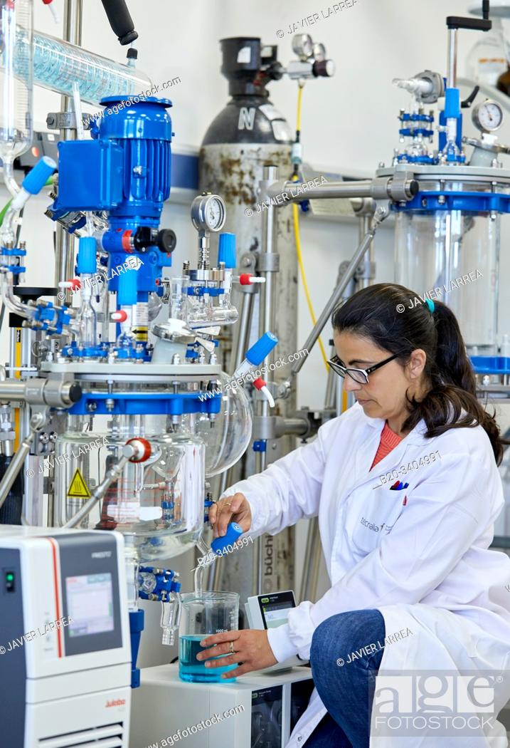 Stock Photo: Minipilot, Glass Reactor, Pilot Plant equipment, Biotechnology Laboratory, Food industry, Unit of Health, Technology Centre, Tecnalia Research & Innovation.