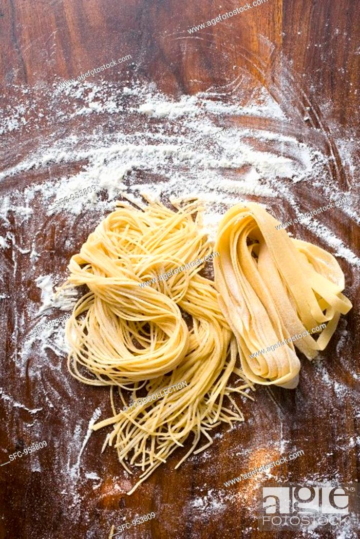 Stock Photo: Home-made pasta.