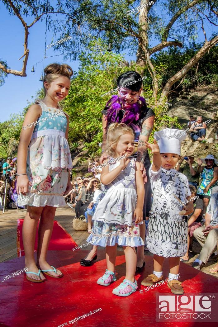 Amiable Children Model Designer Clothing At An Outdoor Fashion Show In Laguna Beach Ca Stock Photo Picture And Rights Managed Image Pic C03 2989149 Agefotostock