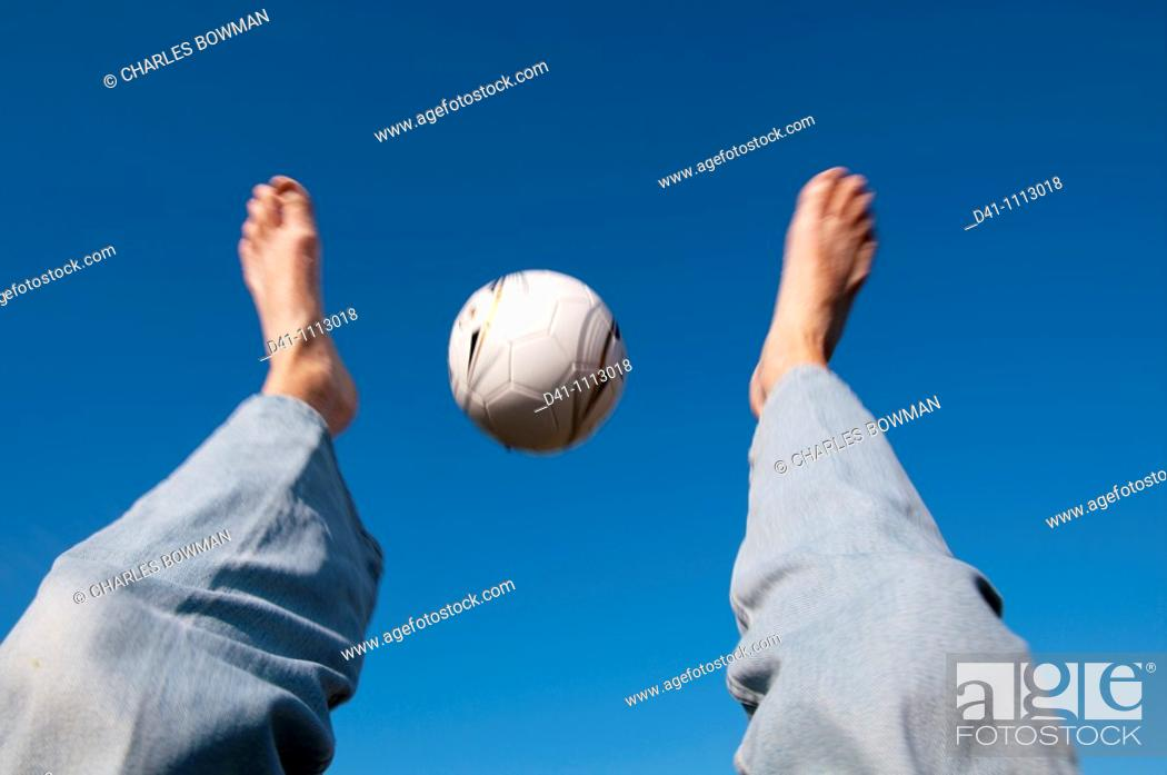 Stock Photo: man football.