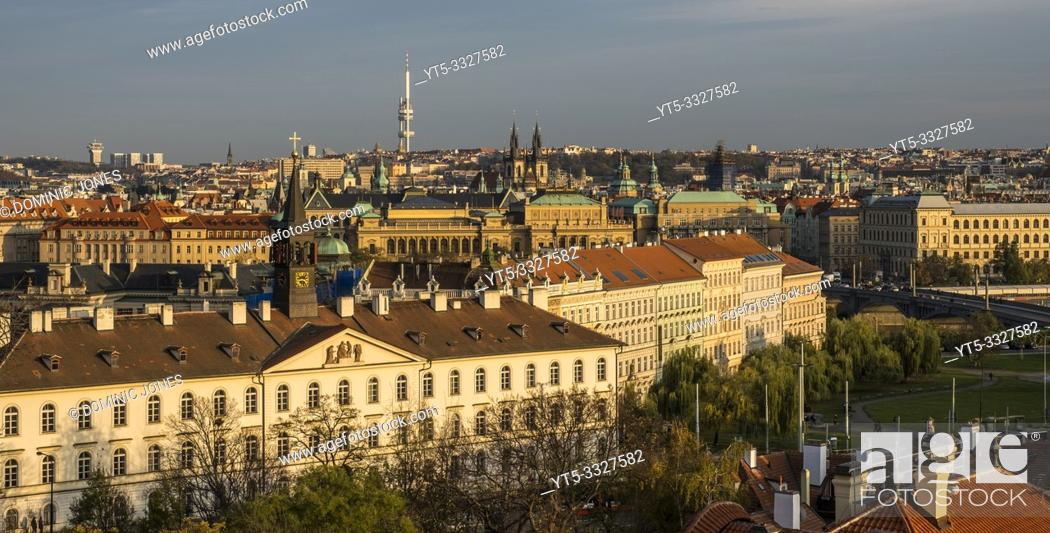Stock Photo: The rooftops of Prague, Czech Republic, Europe.
