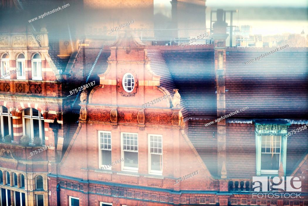 Stock Photo: Red brick building in Symons St. Chelsea, London SW3 2TJ. England, UK.