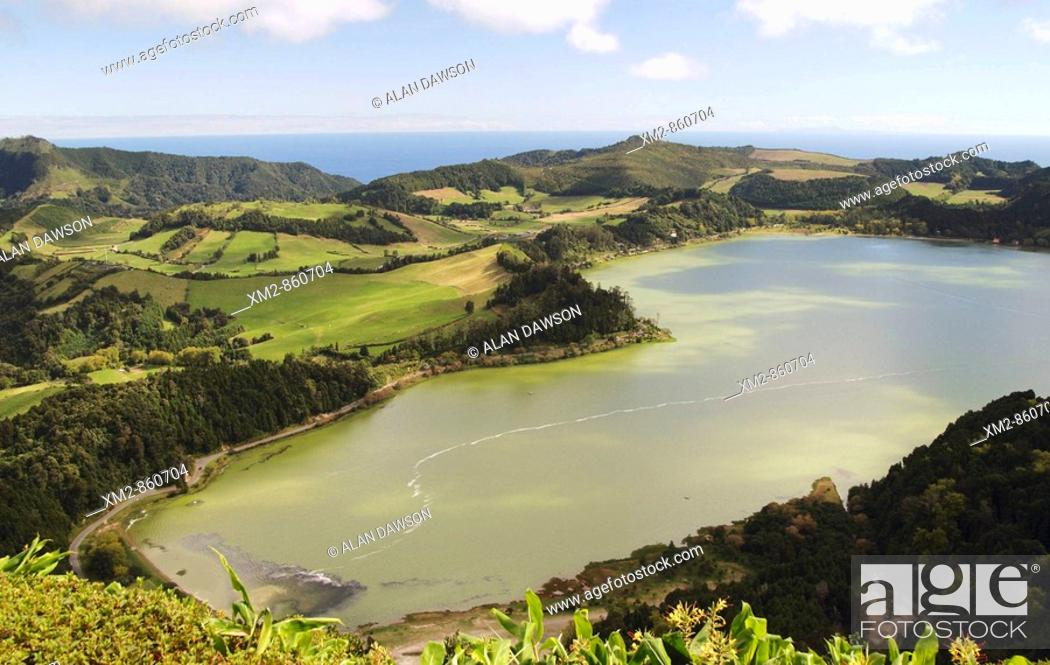 Stock Photo: Lake Furnas on Sao Miguel island in The Azores.