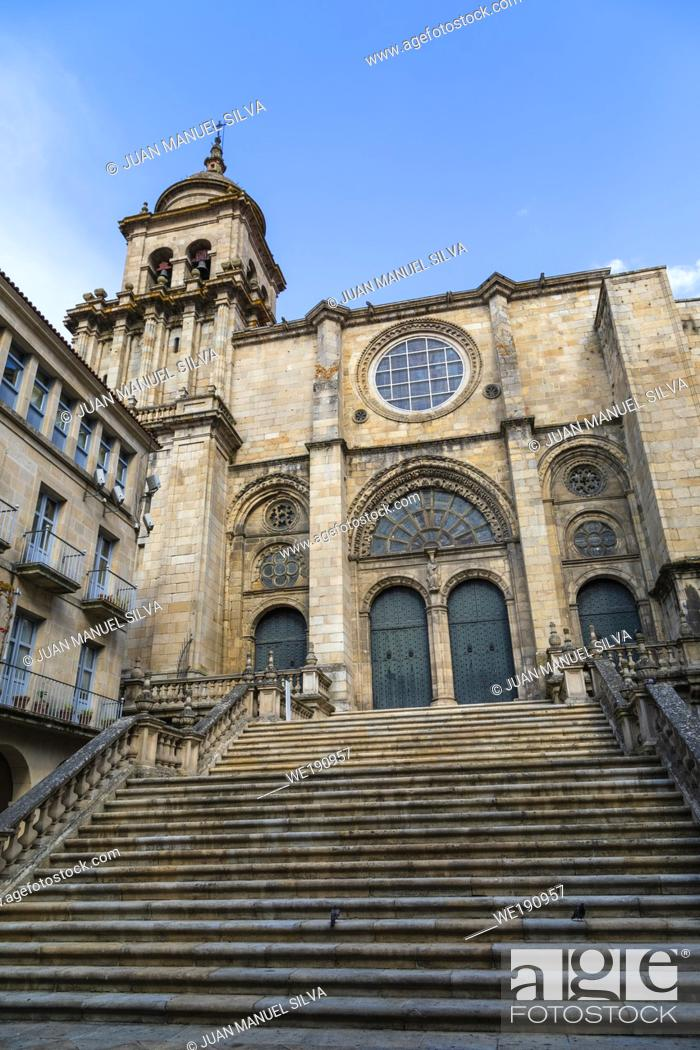 Stock Photo: Romanesque cathedral of Ourense, Galicia, Spain.