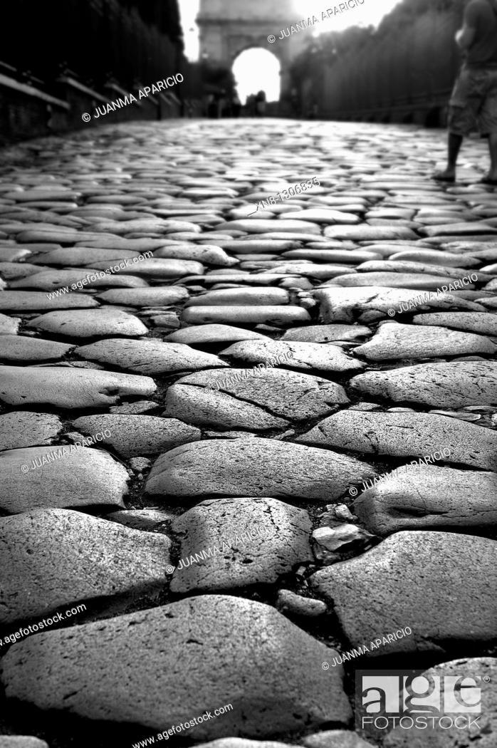 Stock Photo: Calzada Romana, Rome, Italy.