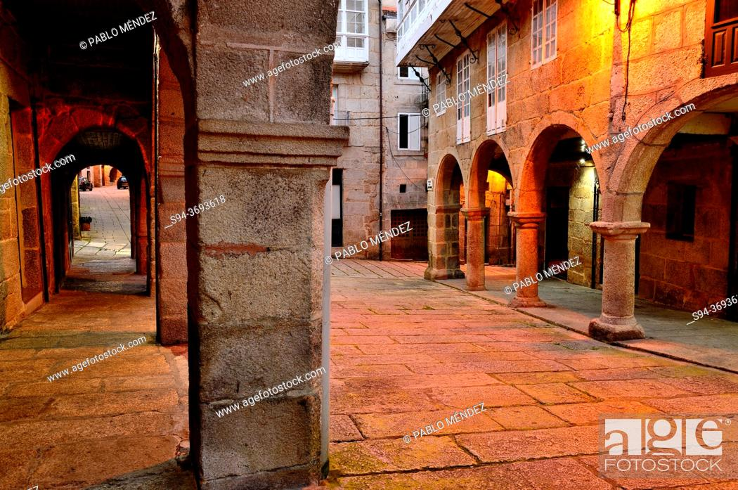 Stock Photo: Old Town. Jewish Quarter of Ribadavia, Orense, Spain.