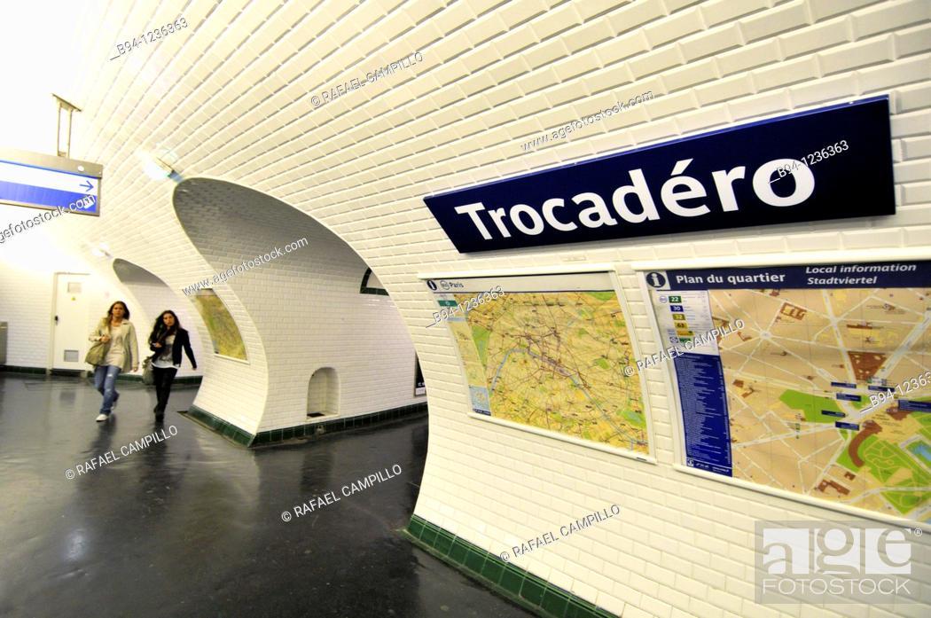 Stock Photo: Trocadero subway station, Paris, France.