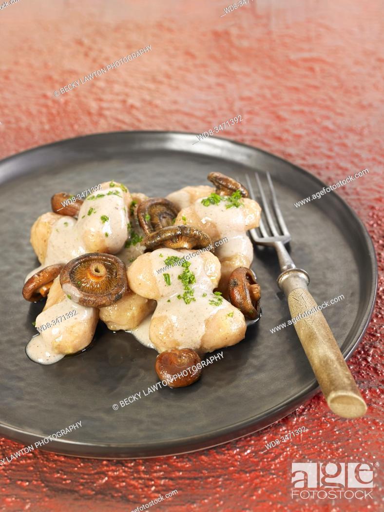 Stock Photo: ñoquis de patata / potato gnocchi.