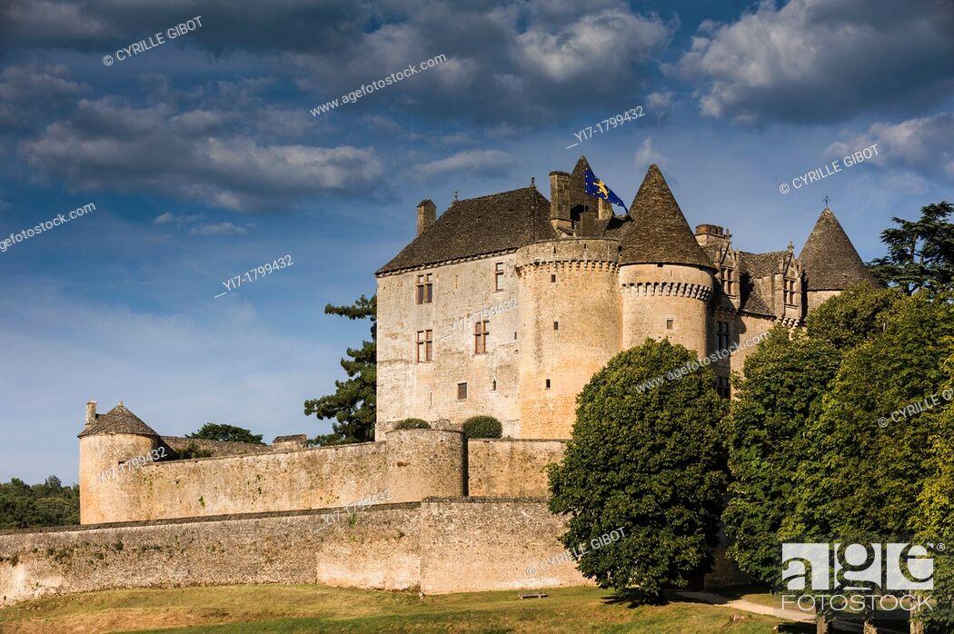 Stock Photo: The castle of Fenelon, Sainte Mondane, Dordogne, Perigord, Aquitaine, France.