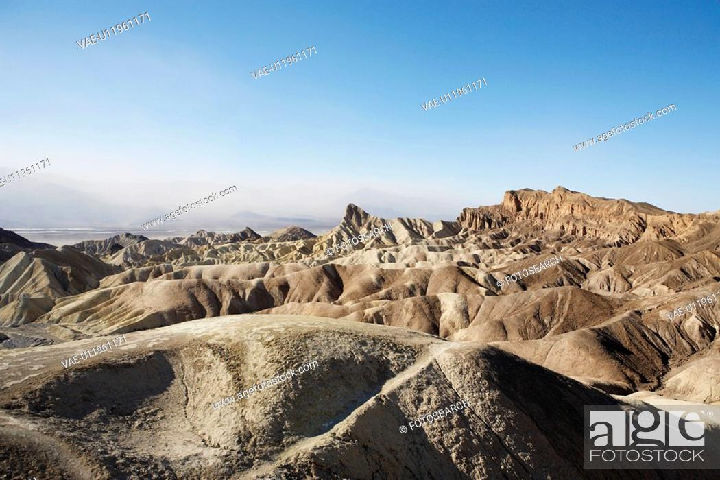 Stock Photo: Rock formations, Death Valley, California, USA.