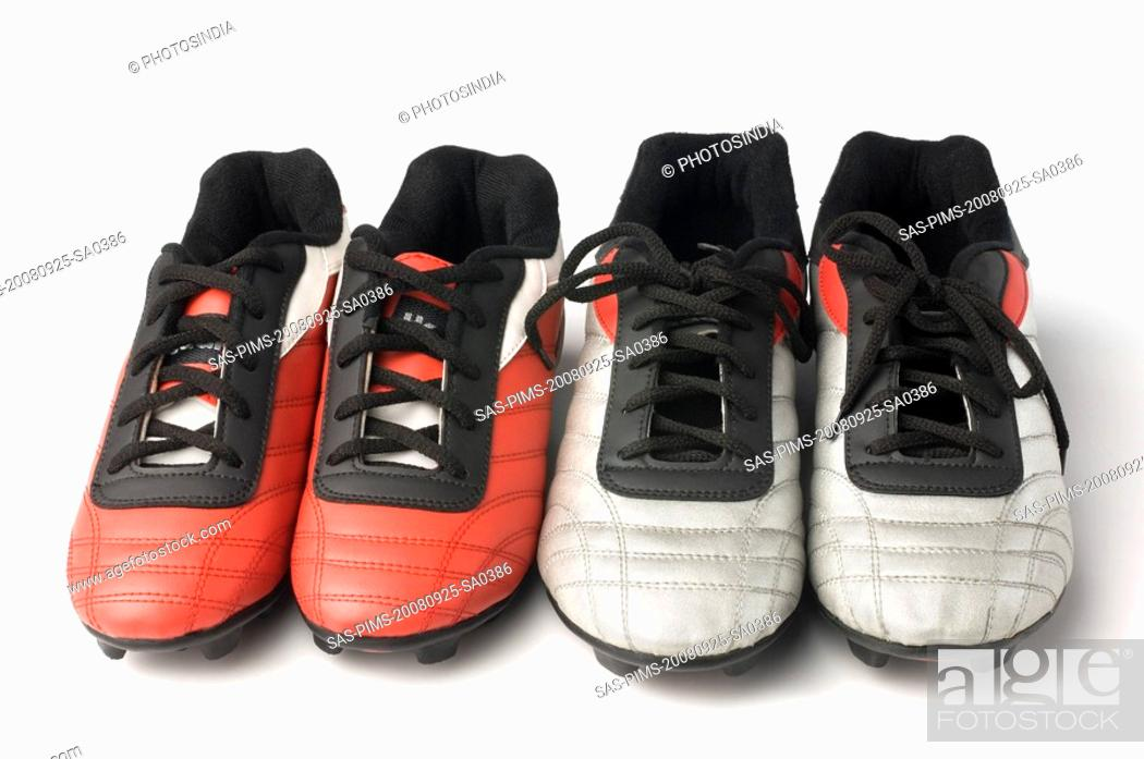 Stock Photo: Two pairs of bowling shoes.