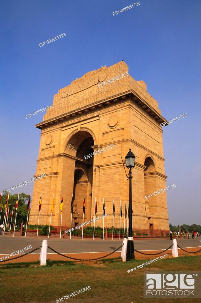 Stock Photo: India Gate , New Delhi , India.