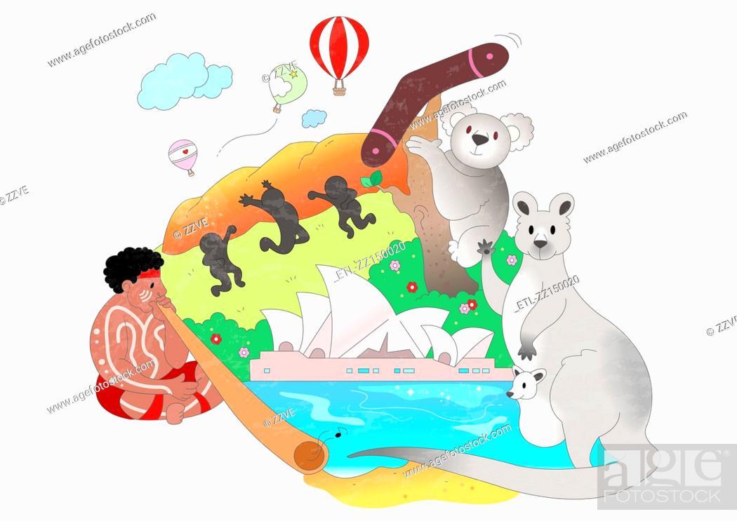 Stock Photo: Attractions of Australia.