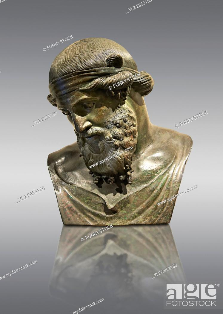 Stock Photo: Roman bronze sculpture of Dinoysus - Plato, Museum of Archaeology, Italy.