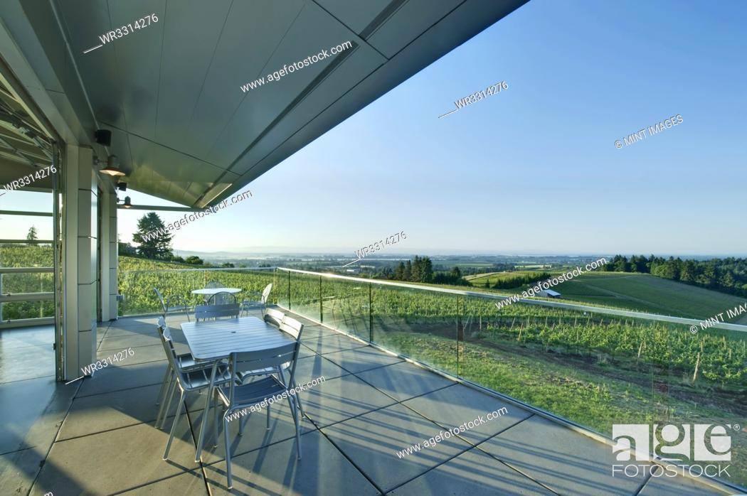 Stock Photo: Wine Tasting Balcony.
