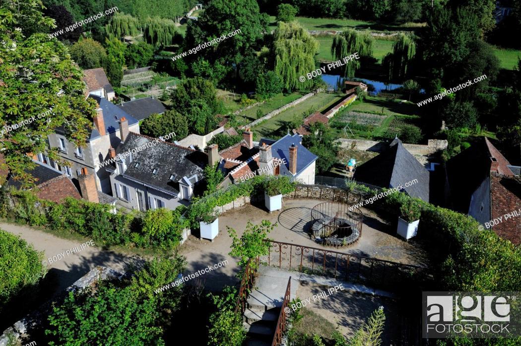 Stock Photo: France, Indre et Loire, Loire Valley, Montresor, labeled Les Plus Beaux Villages de France The Most Beautiful Villages of France, Castle of Montresor.