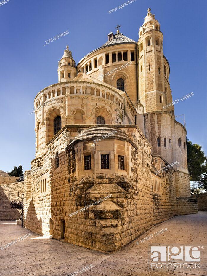 Stock Photo: Dormition Abbey, Byzantine Church, Mount Zion, Jerusalem, Israel, Middle East.