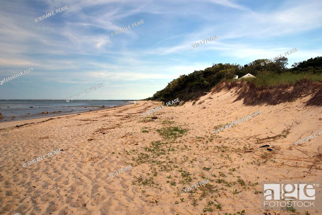 Stock Photo: Breakwater Beach, Brewster, Cape Cod, Massachusetts.