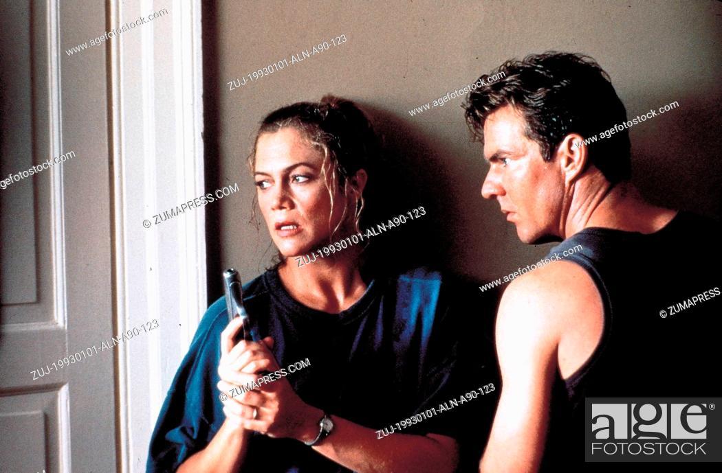 Stock Photo: 1993; Undercover Blue. Original Film Title: Undercover Blue, PICTURED: DENNIS QUAID, KATHLEEN TURNER, Composer: David Newman, Director: Herbert Ross.
