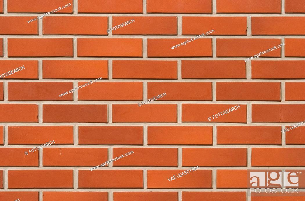 Stock Photo: Brickwork, Array, Brick Wall, Barrier, Assembly, Architecture.