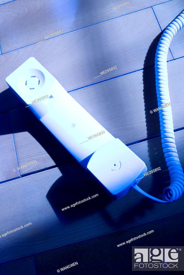 Stock Photo: Fixed telephone receiver.