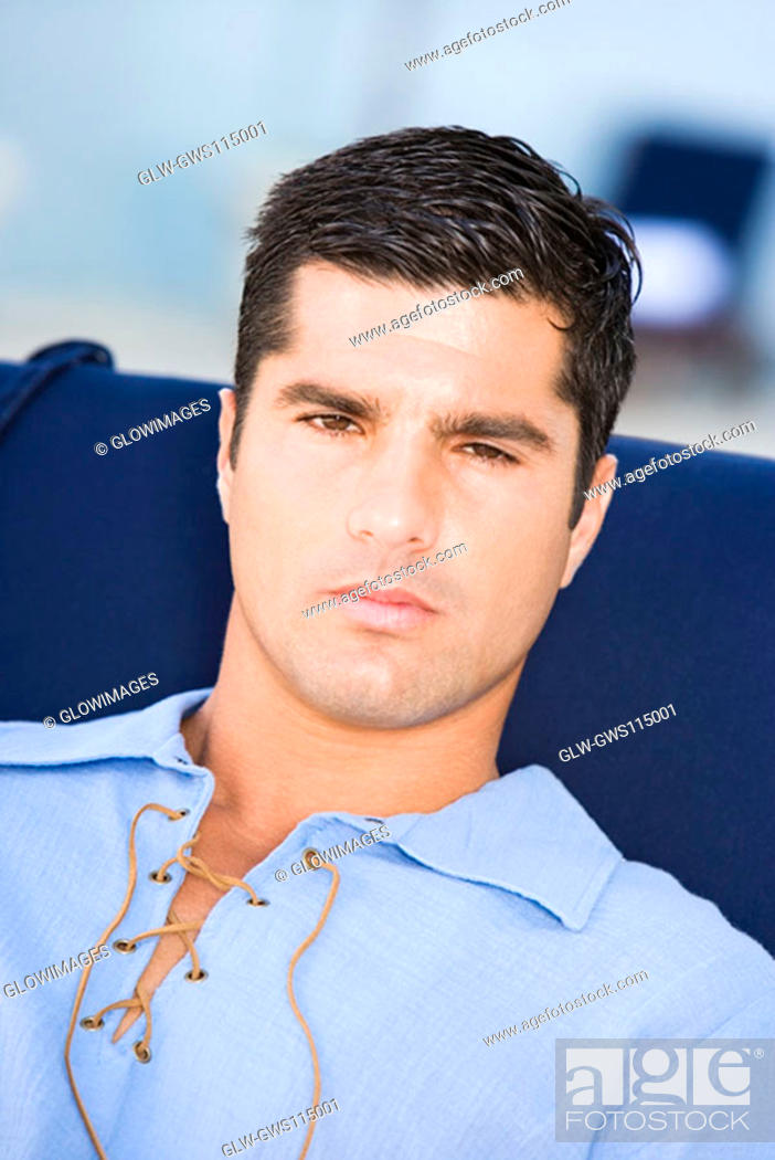 Stock Photo: Portrait of a mid adult man.