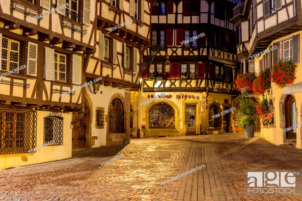 Stock Photo: Old town in Colmar, Alsace, France, Europe.