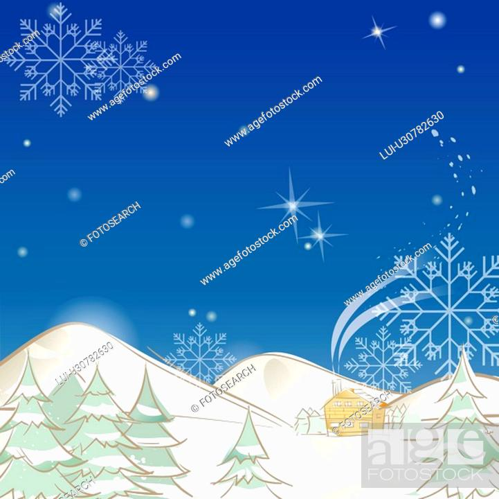 Stock Photo: mountain, season, snowing, snow, winter, foreset, background.