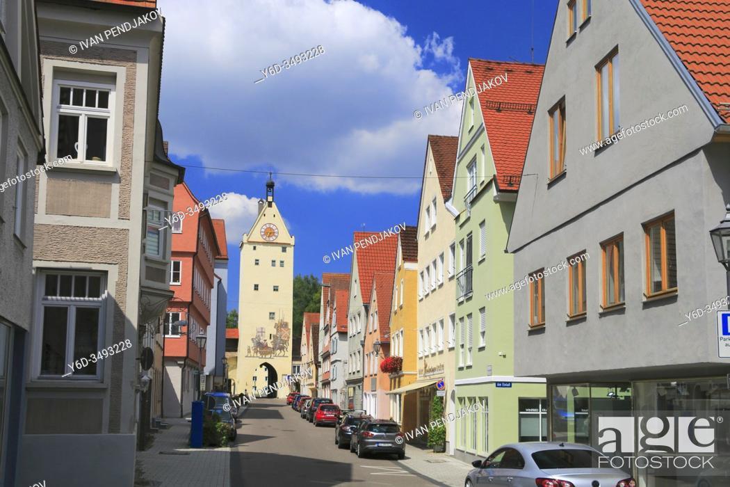 Imagen: The Ulmer Gate in Memmingen, Bavaria, Germany.