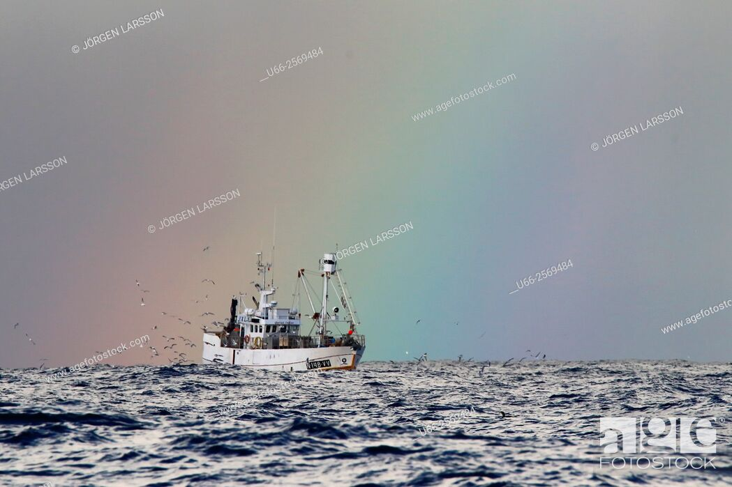 Stock Photo: Fishing boat, Andöya, Norway.