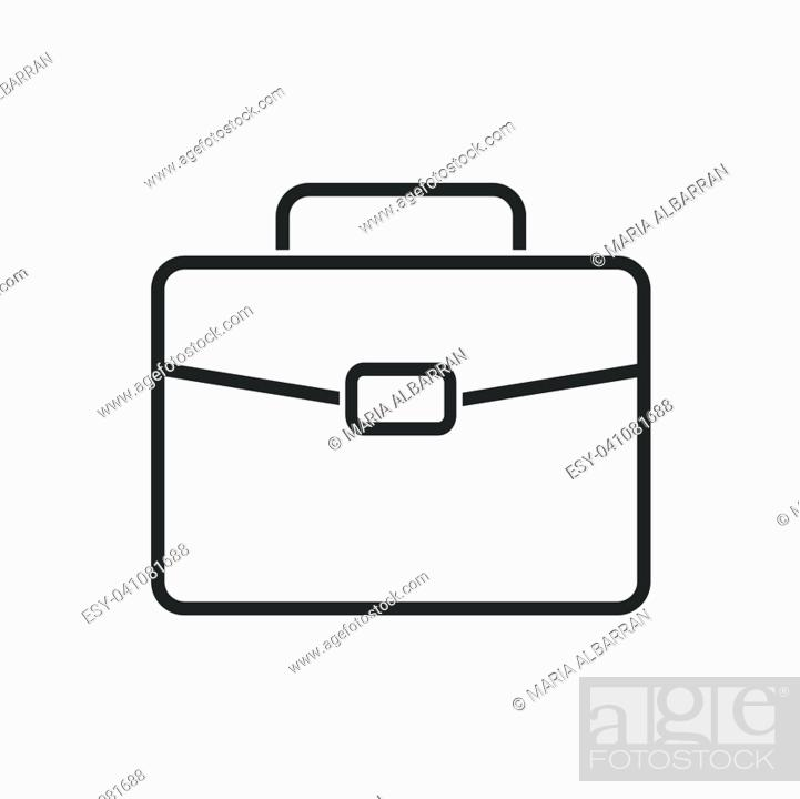 Vector: Briefcase line icon on a white background. Vector illustration.