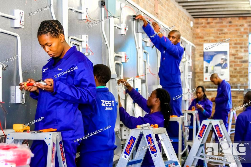 Stock Photo: Johannesburg, South Africa - May 8 2012: Vocational Skills Training Centre in Africa.
