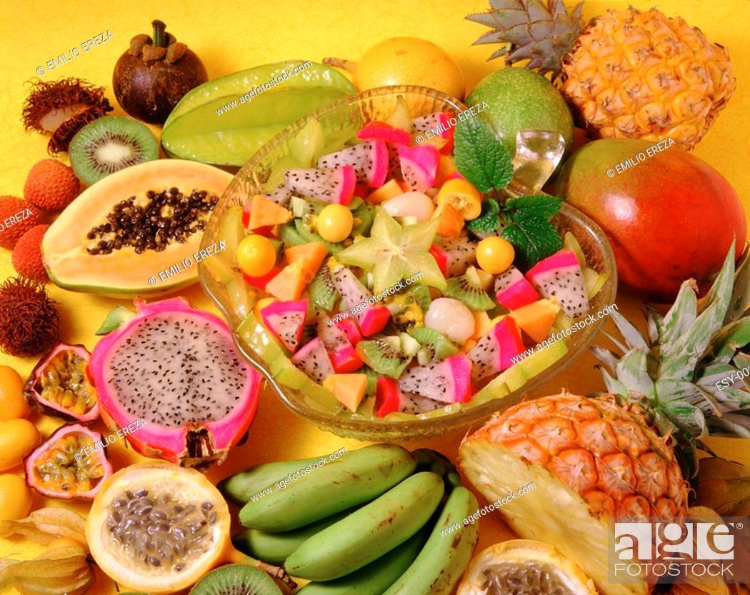 Stock Photo: Tropical fruit salad.
