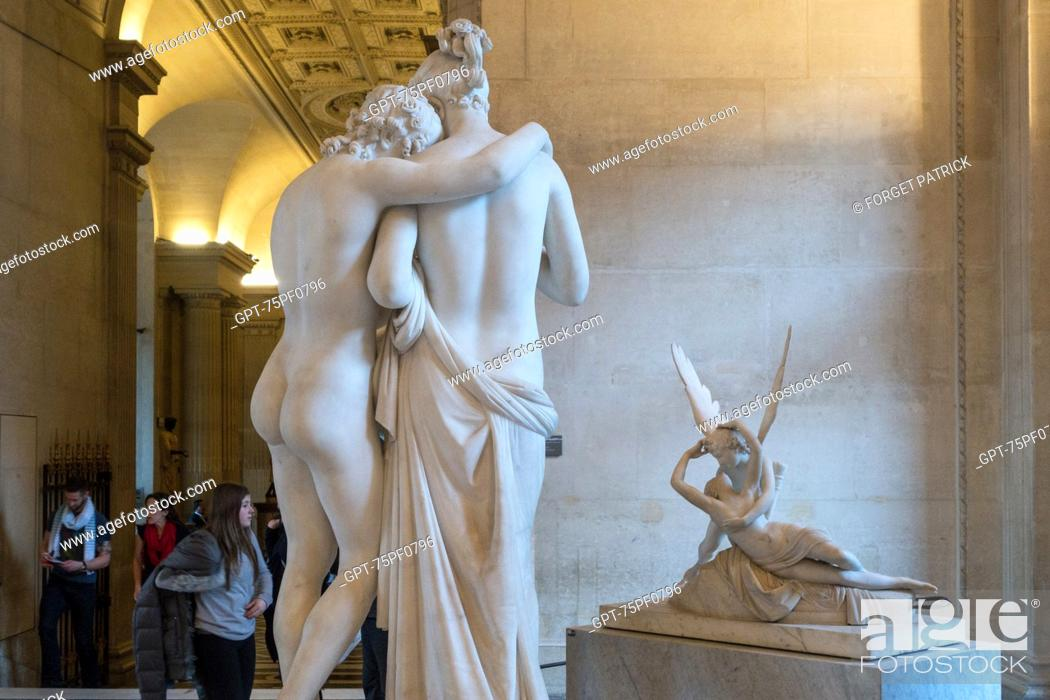 L'AMOUR ET PSYCHE (1797) IN THE FOREGROUND AND BEHIND IT