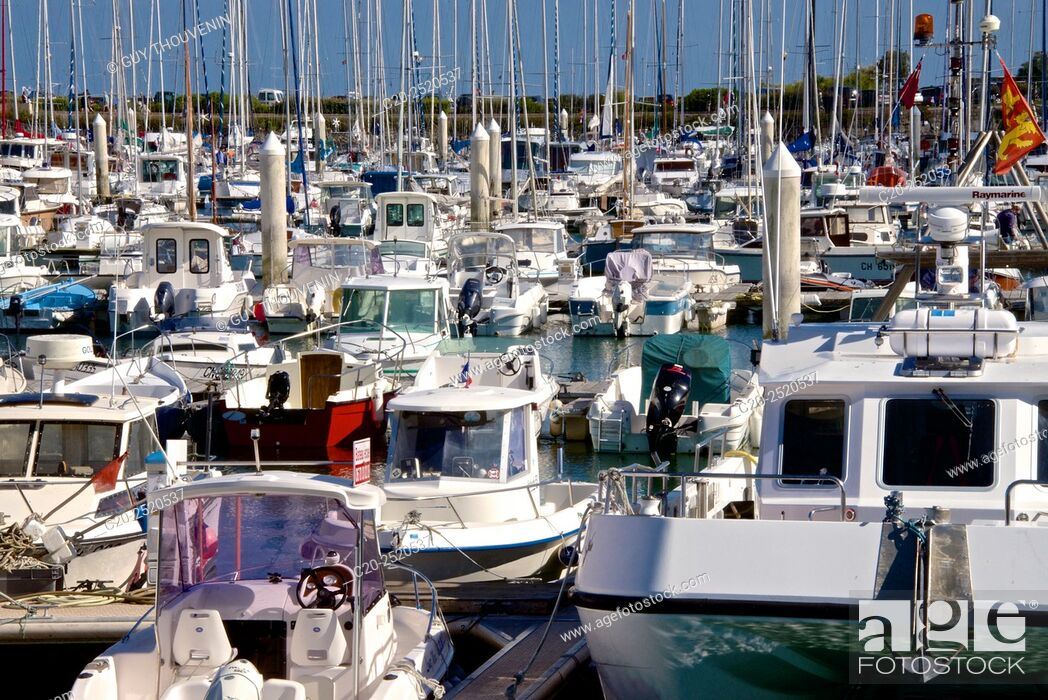 Stock Photo: Boats, Marina, Saint Vast la Hougue harbour, Contention, 50, Normandy, France.