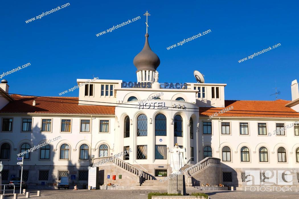 Stock Photo: Domus Pacis Hotel, Santuario de Fatima, Fatima Shrine, Sanctuary of Our Lady of Fatima, Fatima, Ourem, Santarem, Portugal.