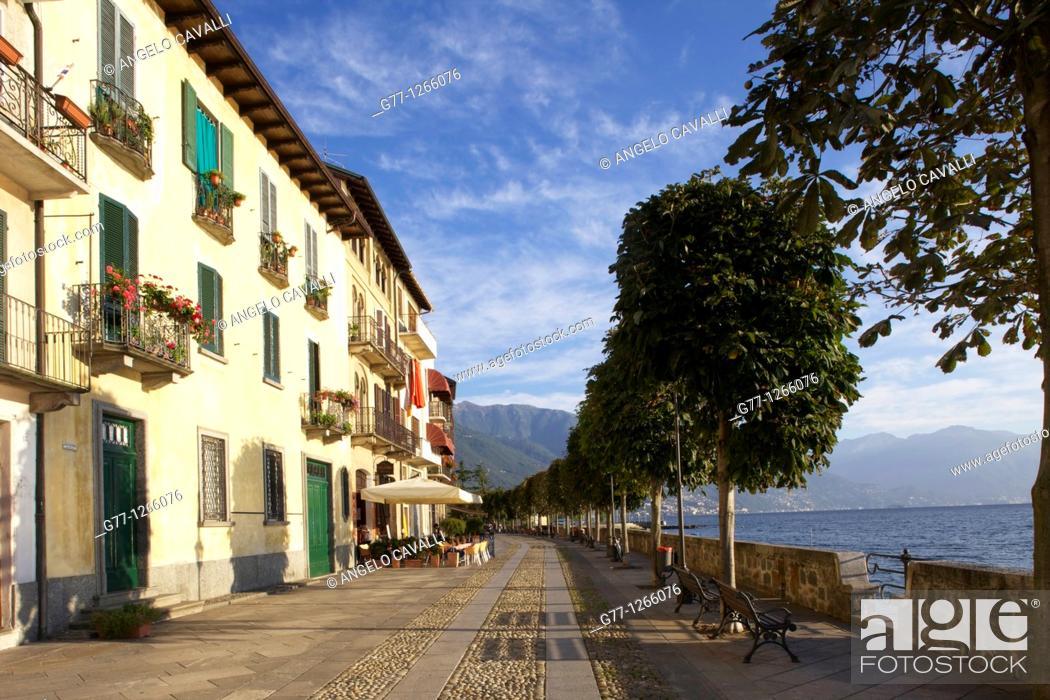 Stock Photo: Cannobio, Lake Maggiore, Piedmont, Italy.