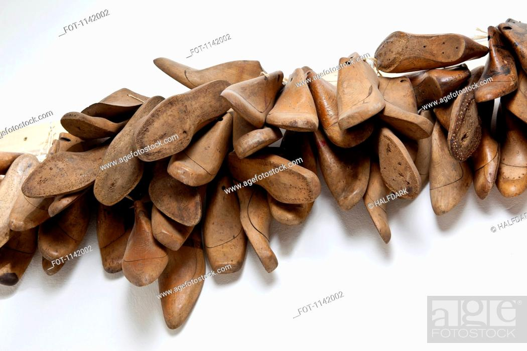 Stock Photo: Wooden shoe molds.