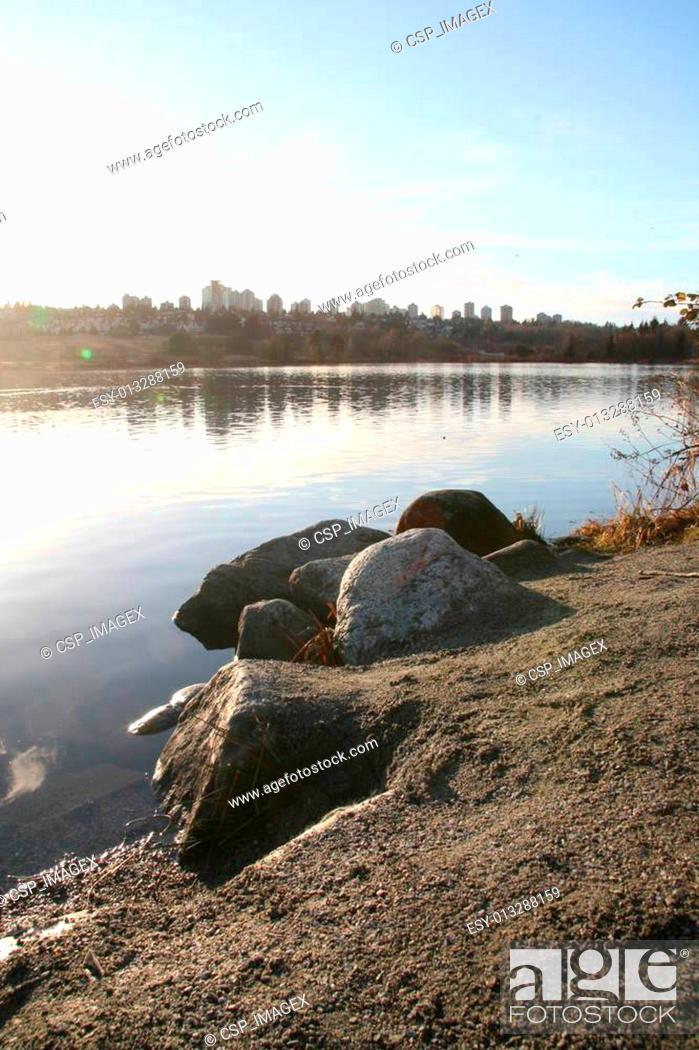 Stock Photo: Deer Lake Park - Vancouver, Canada.