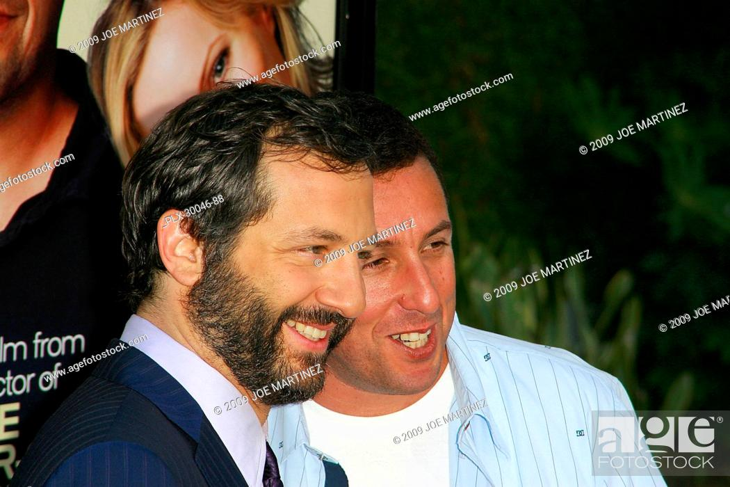 Stock Photo: Judd Apatow and Adam Sandler at the Premiere of Universal Pictures' Funny People- Arrivals held at the Arclight Cinema in Hollywood, CA July 20, 2009.