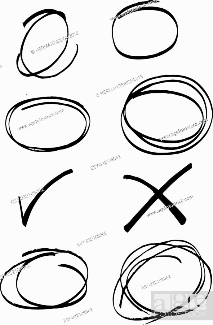 Stock Vector: Scribble Stains Hand drawn in pencil of illustration.