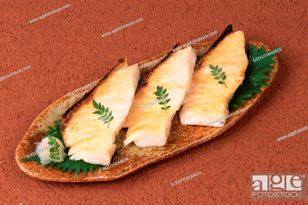 Stock Photo: Slices Of Baked Cod.