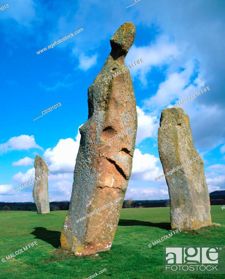 Stock Photo: Pre-historic standing stones. Fife. Scotland.
