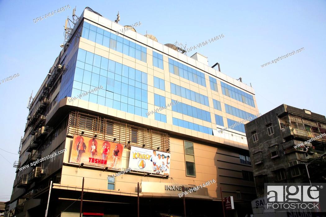 Stock Photo: Apsara multiplex cinema hall ; Grant road ; Bombay now Mumbai ; Maharashtra ; India.